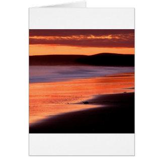 Bahía Marin de los Drakes de la puesta del sol de  Tarjeta De Felicitación