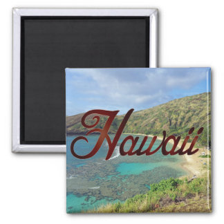 Bahía Oahu Hawaii de Hanauma Imán Cuadrado