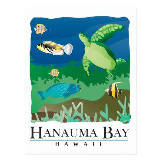 Bahía Oahu Hawaii de Hanauma Tarjetas Postales