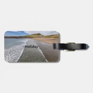 Bahía País de Gales del Mawr Whitesands de Porth Etiqueta Para Maleta