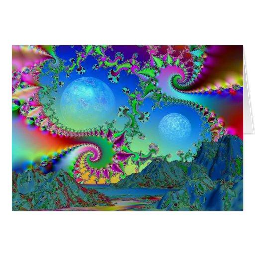 Bahía psicodélica tarjeta de felicitación
