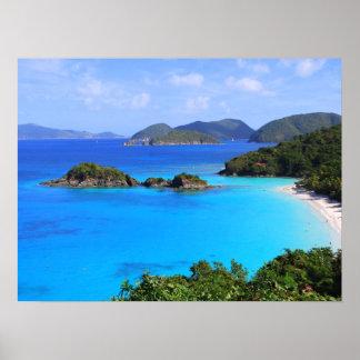 Bahía St. John, Islas Vírgenes del canela de los E Póster