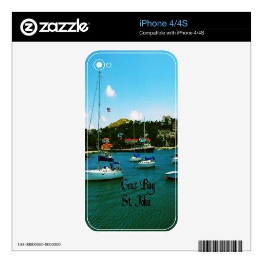 Bahía St. John USVI de Cruz Skins Para iPhone 4