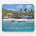 Bahía St. John USVI Mousepad de Cruz Alfombrilla De Ratón