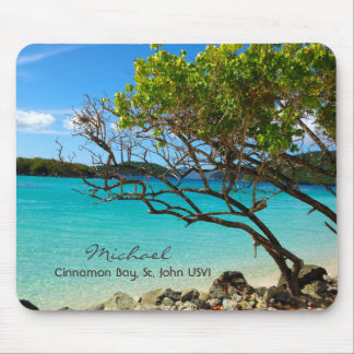 Bahía St. John USVI Mousepad del canela