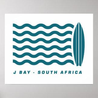 Bahía Suráfrica de Jeffreys de la resaca Póster