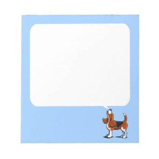 Bahía tricolora del beagle blocs de papel