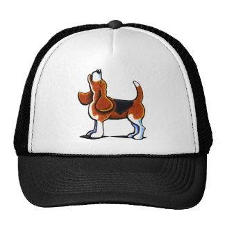 Bahía tricolora del beagle gorras de camionero