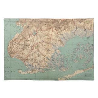 Bahía y Brooklyn de Jamaica Manteles Individuales