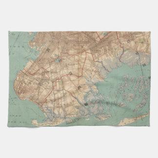 Bahía y Brooklyn de Jamaica Toallas