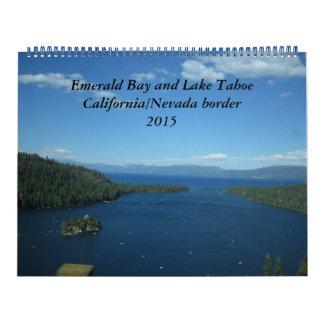Bahía y el lago Tahoe esmeralda - 2015 Calendarios De Pared
