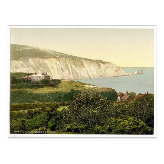 Bahía y las agujas isla del alumbre del Wight In Tarjeta Postal