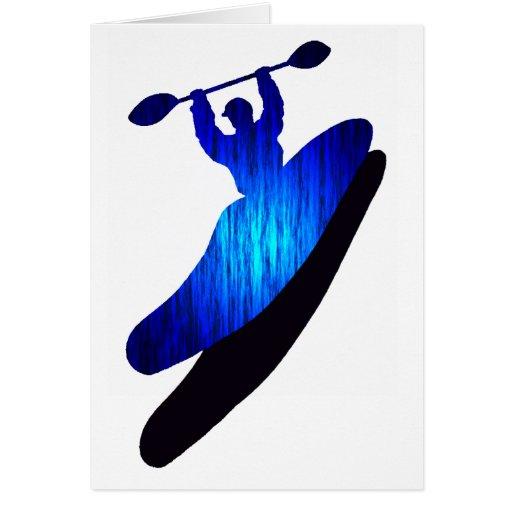 Bahías del azul del kajak tarjeta