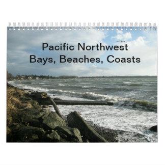 Bahías del noroeste pacíficas, playas, costas calendario