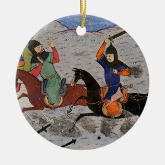 Bahman Taking Revenge on the Sistanians Ceramic Ornament