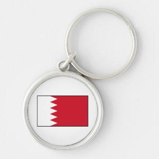Bahrain - Bahraini Flag Silver-Colored Round Keychain