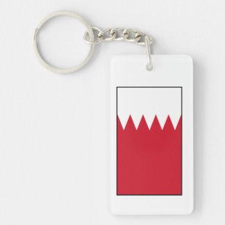 Bahrain - Bahraini Flag Double-Sided Rectangular Acrylic Keychain