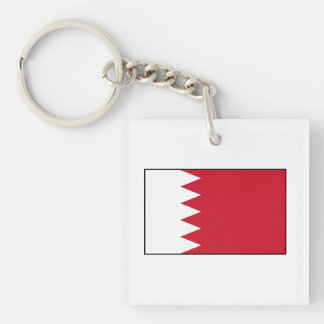 Bahrain - Bahraini Flag Double-Sided Square Acrylic Keychain