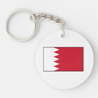 Bahrain - Bahraini Flag Double-Sided Round Acrylic Keychain