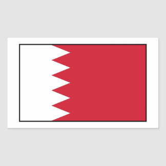Bahrain - Bahraini Flag Rectangular Sticker