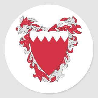 Bahrain coat of arms classic round sticker