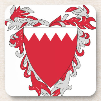 Bahrain Coat of Arms Drink Coaster