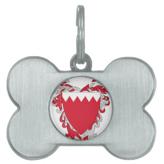 Bahrain Coat of Arms Pet Name Tags