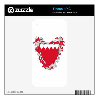 Bahrain Coat of Arms Skin For The iPhone 4