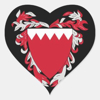 bahrain emblem heart sticker