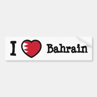 Bahrain Flag Bumper Sticker