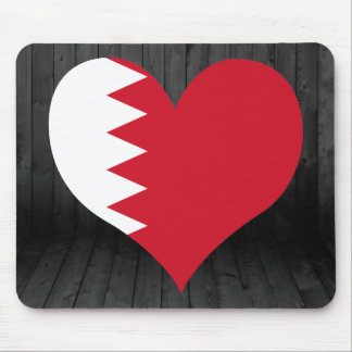 Bahrain flag colored mouse pad