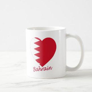Bahrain Flag Heart Coffee Mugs