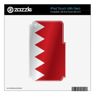 Bahrain flag iPod touch 4G decals