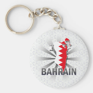 Bahrain Flag Map 2.0 Keychain