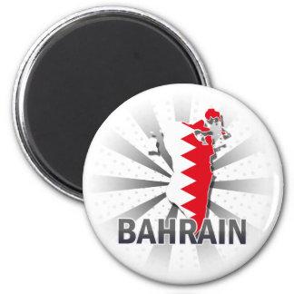 Bahrain Flag Map 2.0 Refrigerator Magnet