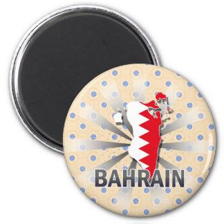 Bahrain Flag Map 2.0 Fridge Magnets