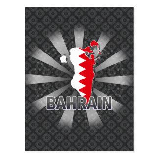 Bahrain Flag Map 2.0 Post Cards