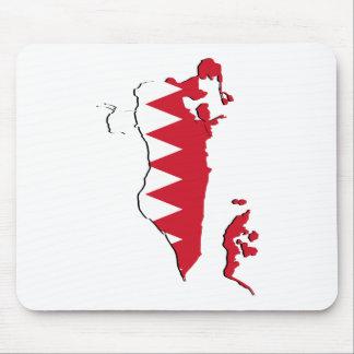 Bahrain Flag map BH Mouse Pad