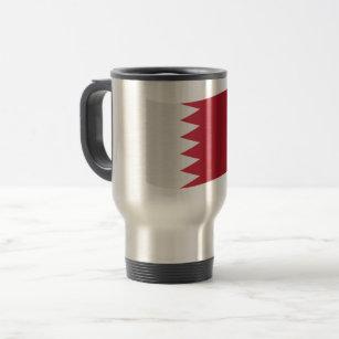 Bahrain Flag Travel Mug