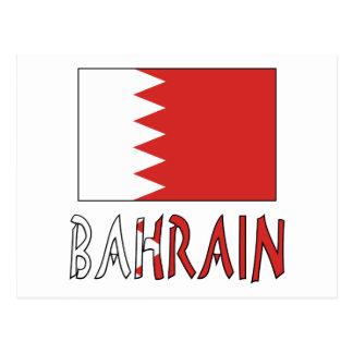 Bahrain Flag & Word Postcard