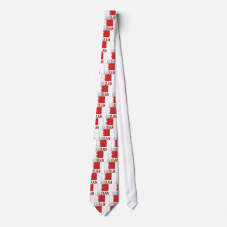 Bahrain Flag & Word Tie