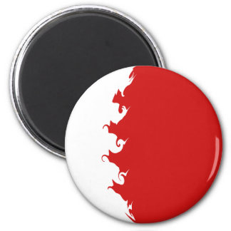 Bahrain Gnarly Flag Magnet