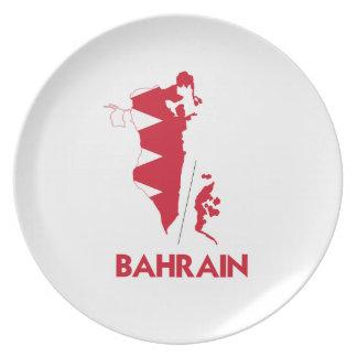 BAHRAIN MAP DINNER PLATE