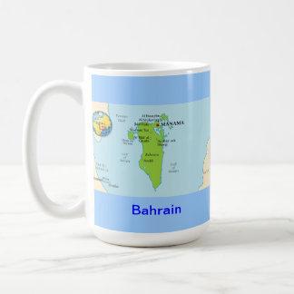 Bahrain map & flag coffee mug