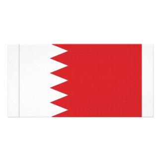 Bahrain National Flag Photo Card Template