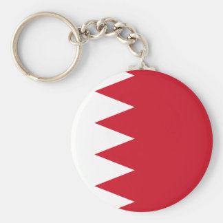 Bahrain National World Flag Keychain