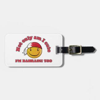 Bahrain smiley flag designs travel bag tags