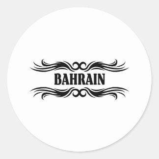 Bahrain Round Stickers