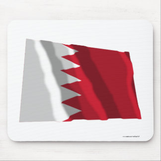 Bahrain Waving Flag Mouse Pad