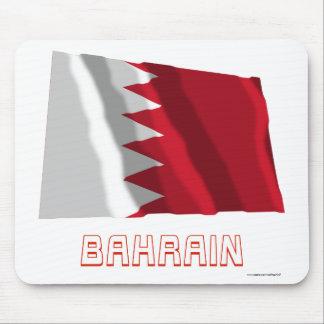 Bahrain Waving Flag with Name Mouse Pad